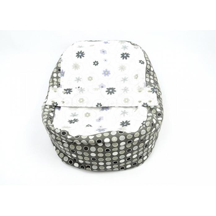 Náhradní potah na pelíšek pro miminko LOUKA ČERNOBÍLÁ 100% bavlna
