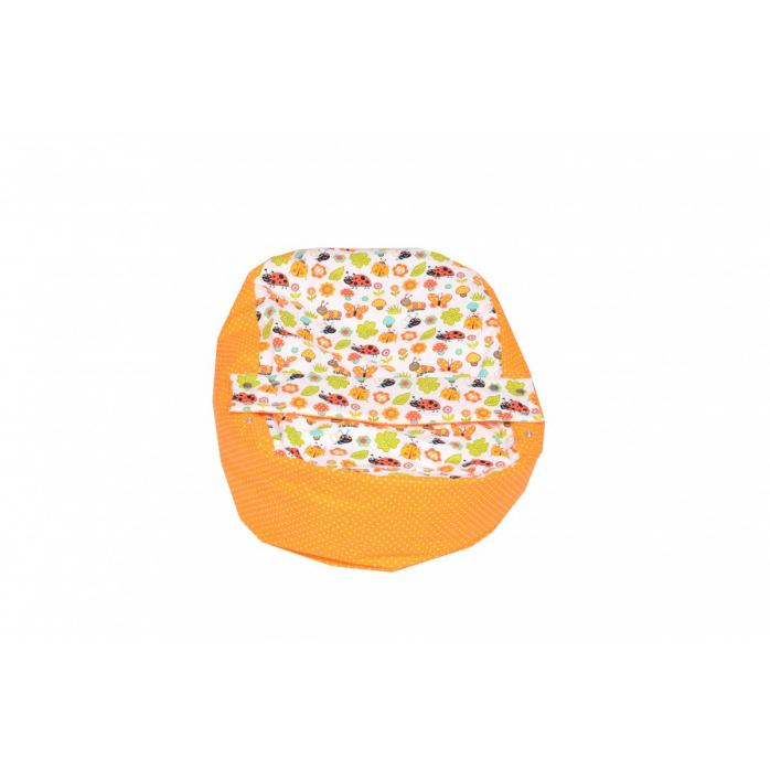Náhradní potah na pelíšek pro miminko BERUŠKA ORANŽOVÁ 100% bavlna