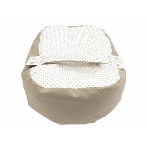 Náhradní potah na pelíšek pro miminko PUNTÍK BÉŽOVÝ 100% bavlna
