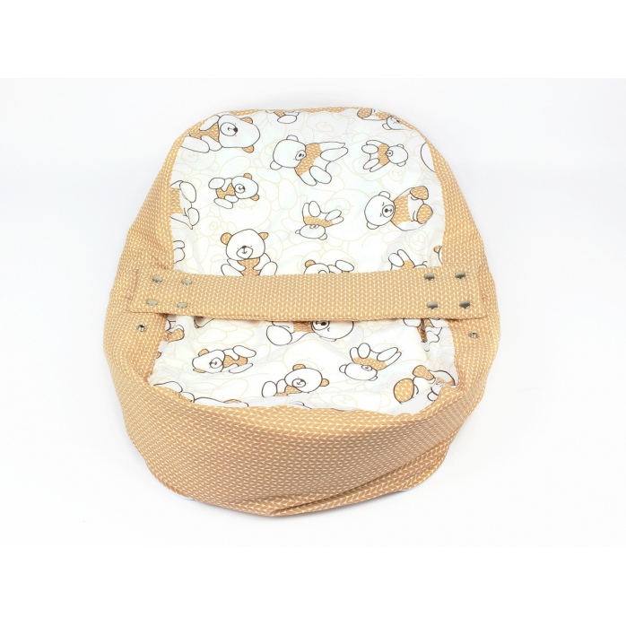 Náhradní potah na pelíšek pro miminko MÉĎA HNĚDÝ 100% bavlna