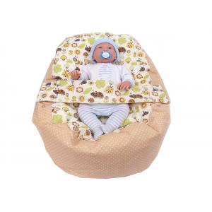 Pelíšek pro miminko, relaxační vak BERUŠKA béžová