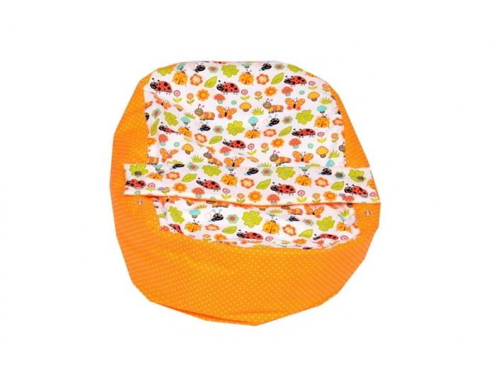 Pelíšek pro miminko, relaxační polštář BERUŠKA oranžová, AKCE 2