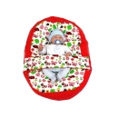 Pelíšek pro miminko, relaxační vak BERUŠKA červená