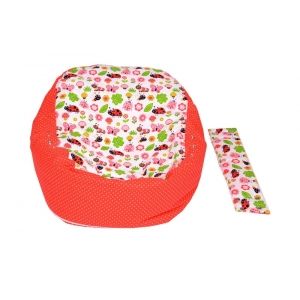 Pelíšek pro miminko, relaxační vak BERUŠKA červená3