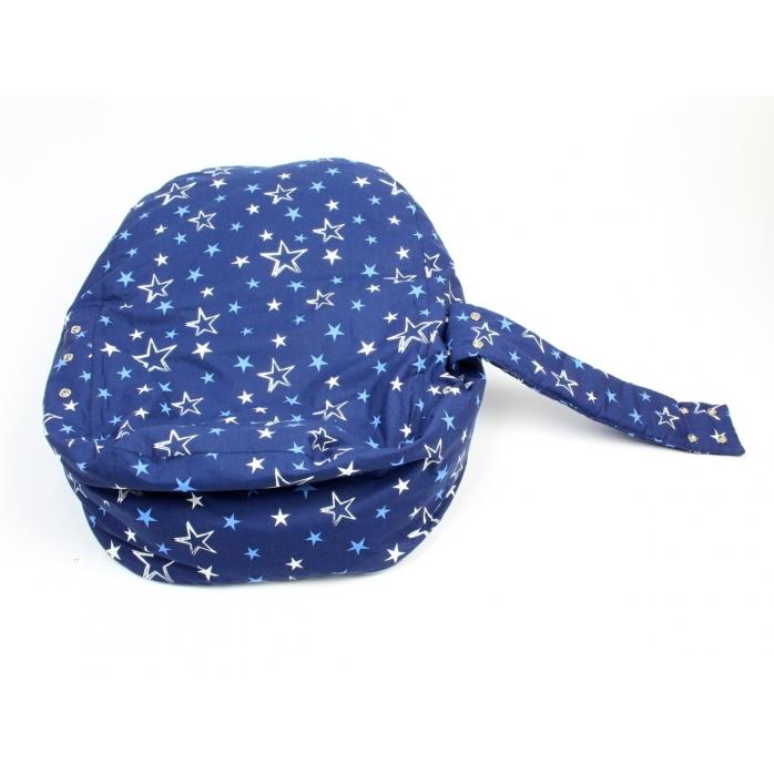 Hnízdečko, pelíšek pro miminko hvězdy modré