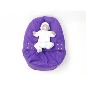 Pelíšek pro miminka, kojenecký relaxační polštář FIALOVÝ