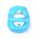 Pelíšek pro miminka, kojenecký relaxační polštář MODRÝ