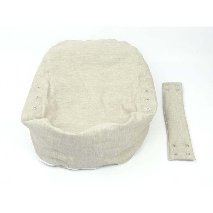 Pelíšek pro miminka, kojenecký relaxační polštář PŘÍRODNÍ LEN 4
