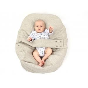 Pelíšek pro miminka, kojenecký relaxační polštář PŘÍRODNÍ LEN