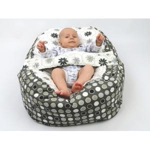 Pelíšek pro miminka, kojenecký relaxační polštář LOUKA šedá 2