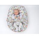 Pelíšek pro miminka, kojenecký relaxační polštář GRAFITTI