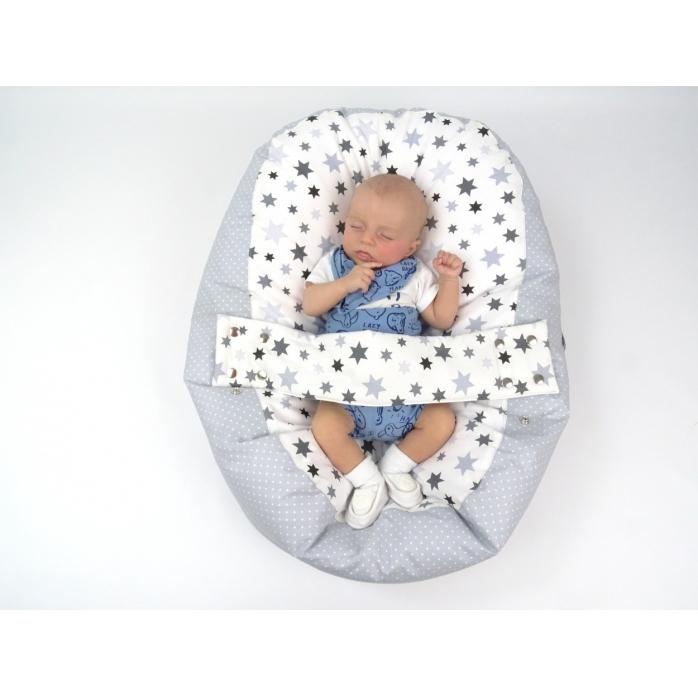 Pelíšek pro miminka, kojenecký relaxační polštář STARS 5