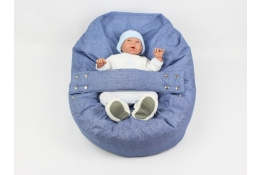 Pelíšek pro miminko, relaxační polštář DENIM