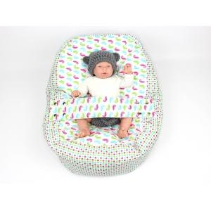 Pelíšek pro miminko, kojenecký relaxační polštář CHAMELEON BÍLÝ