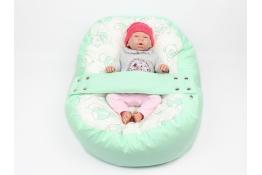 Pelíšek pro miminka, kojenecký relaxační polštář MÉĎA ZELENÝ
