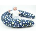 Těhotenský a kojící polštář Maxi HVĚZDY modré, 100% bavlna 1