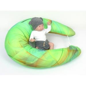 Těhotenský a kojící polštář Maxi COLOR, bavlněný satén