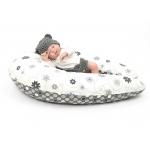Těhotenský a kojicí polštář Maxi LOUKA černobílá 100% bavlna