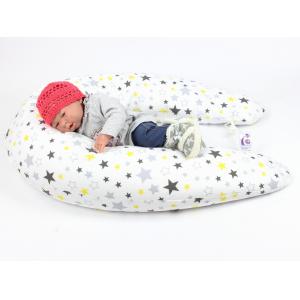 Kojicí polštář Maxi HVĚZDY ŽLUTÉ 100% bavlna