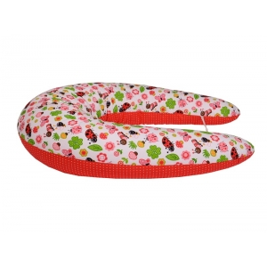 Polštář na kojení Standard BERUŠKA červená 100% bavlna