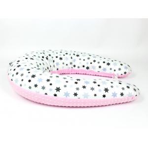 Kojicí polštář Standard STAR růžový, colormix MINKY