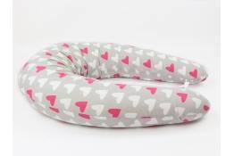 Kojicí polštář Standard SRDÍČKA RŮŽOVÁ 100% bavlna