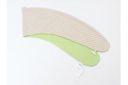 Potah na kojicí polštář VLNKY ZELENÉ 100% bavlna (velikost MAXI)